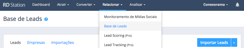 Base de Leads no RDStation