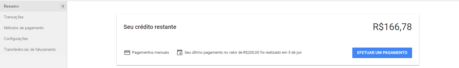 Credito no AdWords