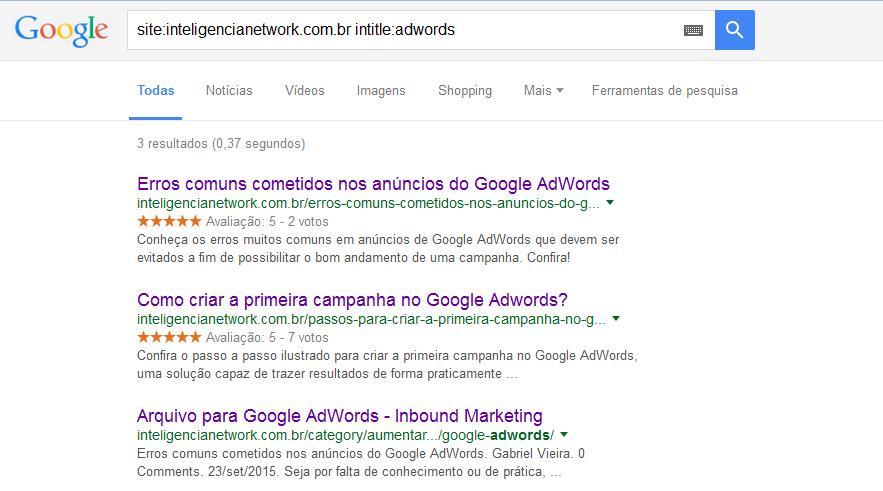 Google busca 1 - intitle