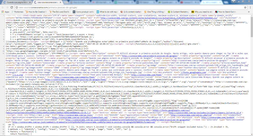 Código Fonte de Heading Tags
