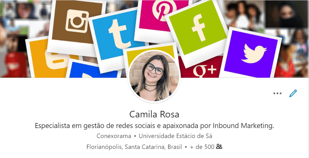 perfil no linkedin logos