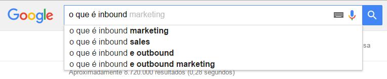 Pesquisa no google Inbound Marketing