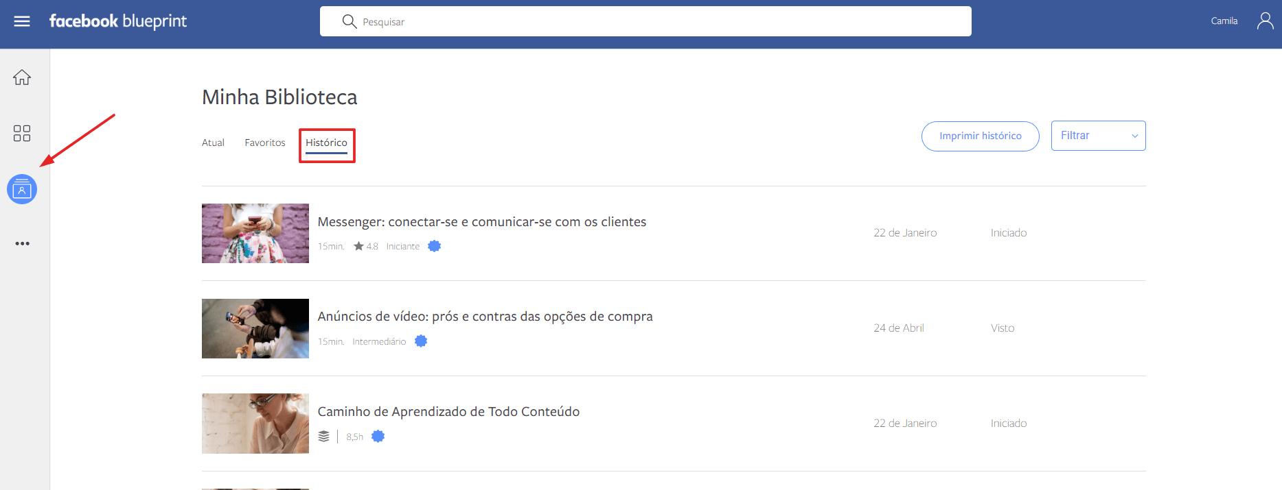 biblioteca facebook blueprint
